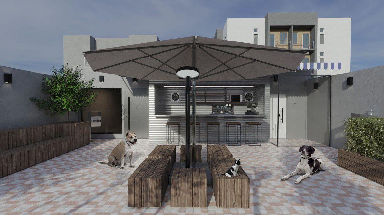 Praça com Café Pet Park Higienópolis 3
